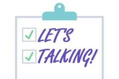 Handschriftstext lie? S spricht Konzeptbedeutung, zum etwas und direkt wie Plan ehrlich zu besprechen lokalisiert stock abbildung