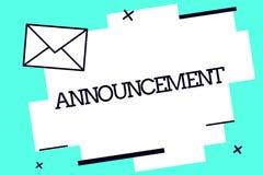 Handschriftstext Mitteilung Formale allgemeine Aussage der Konzeptbedeutung über ein Tatsachenvorkommen oder -absicht stock abbildung
