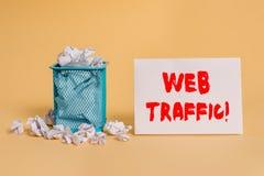 Handschriftstext Netz-Verkehr Konzeptbedeutungsmenge Daten, die von den Besuchern zur Website geschickt wurden und empfangen ware lizenzfreies stockbild