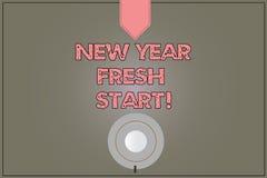 Handschriftstext neues Jahr-Neustart Konzeptbedeutung Motivationsinspiration 365 Tage voll von der Gelegenheiten Kaffeetasse stock abbildung