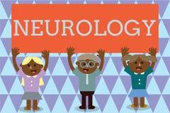 Handschriftstext Neurologie Konzeptbedeutung Gebiet der Medizin beschäftigend Störungen des Nervensystems lizenzfreie abbildung