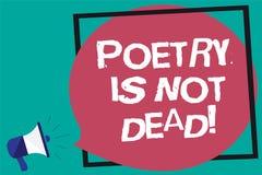 Handschriftstext Poesie ist nicht tot Das Konzept, das ästhetisches und rhythmisches Schreiben bedeutet, ist noch lebendiges und  stock abbildung
