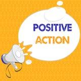 Handschriftstext Positiv-Aktion Konzeptbedeutung, die gute Haltung gegen bestimmte Situation Geldstrafenreaktion tut stock abbildung