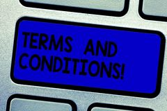 Handschriftstext-Schreiben allgemeine Geschäftsbedingungen Konzeptbedeutungsdetail die Regeln, die zutreffen, um einen bestimmten lizenzfreies stockfoto