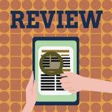 Handschriftstext-Schreiben Bericht Konzeptbedeutungseinschätzung von etwas Absicht von Änderung gegebenenfalls einleiten stock abbildung