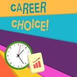 Handschriftstext-Schreiben Berufswahl Konzeptbedeutungsauswahl eines bestimmten Weges oder der Berufung im Hinblick auf Karriere vektor abbildung