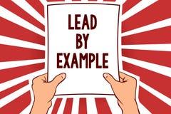 Handschriftstext-Schreiben Führung durch Beispiel Konzeptbedeutung ist ein Mentor, den Führer den Regeln geben Beispiele Trainer  lizenzfreie abbildung
