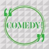 Handschriftstext-Schreiben Komödie Das Konzept, das Berufsunterhaltung Witz-Skizzen bedeutet, lassen Publikum Stimmung lachen stock abbildung
