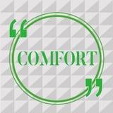 Handschriftstext-Schreiben Komfort Konzept, das körperliche Leichtigkeit Freiheit von Schmerz Entspannung bequem stillsteht bedeu vektor abbildung