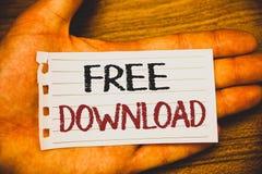 Handschriftstext-Schreiben kostenloser Download Konzeptbedeutung archiviert Downloading ohne irgendein Wörter wri des Gebührenon- lizenzfreie stockfotos