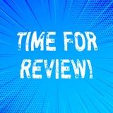 Handschriftstext-Schreiben Zeit für Bericht Konzeptbedeutung Bewertungs-Feedback-Moment Perforanalysisce Rate Assess vektor abbildung