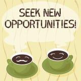 Handschriftstext Suchvorgang-neue Gelegenheiten Die Konzeptbedeutung, die einem neuen Job oder nach einem anderen Unternehmen suc lizenzfreie abbildung
