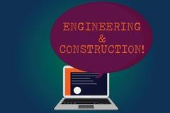Handschriftstext Technik und Bau Konzeptbedeutung, die Fachkenntnisse an der Infrastruktur anwendet stock abbildung