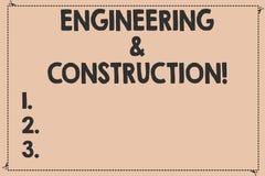 Handschriftstext Technik und Bau Konzeptbedeutung, die Fachkenntnisse an der Infrastruktur defekt anwendet vektor abbildung