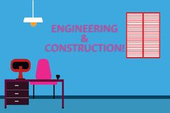 Handschriftstext Technik und Bau Konzeptbedeutung, die Fachkenntnisse an der Infrastruktur Work Space anwendet vektor abbildung