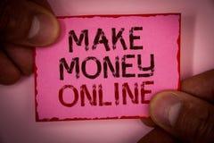 Handschriftstext verdienen Geld on-line Ebusiness-Innovations-Netz-Technologie des Konzeptbedeutung Geschäfts-elektronischen Gesc Lizenzfreies Stockfoto