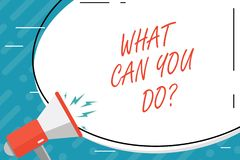 Handschriftstext, was Sie Doquestion kann Konzept, das Service-Bestimmungs-Zweck wert Betrachtung bedeutet stock abbildung