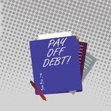 Handschriftstext zahlen weg Schuld Konzept, das Sie jemand, zu geben bedeutet oder ganzes Geld ein Bankkonto zu haben ihr, das Si vektor abbildung