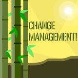 Handschriftstextschreiben Änderungs-Management Die Konzeptbedeutung ersetzen Führungen oder Leute-verantwortlichen Ersatz stock abbildung