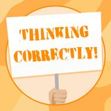 Handschriftstextschreiben, das richtig denkt Konzeptbedeutungsprinzip, das Sie denken, sind vern?nftig und moralisch korrekt vektor abbildung
