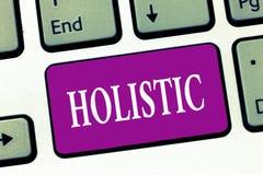 Handschriftstextschreiben holistisch Konzeptbedeutung kennzeichnete Glauben, der Teile etwas vertraut untereinander verbunden stockfoto