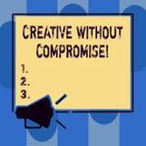 Handschriftstextschreiben kreativ ohne Kompromiss Konzept, das ein Maß des Goodwills und der kleinen Originalität bedeutet lizenzfreie abbildung