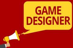 Handschriftstextschreiben Spiel-Designer Grafiken der Konzeptbedeutung Aktivist-Pixel-bemannen Skiptprogrammierer-Konsolen-3D das vektor abbildung