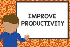 Handschriftstextschreiben verbessern Produktivit?t Konzeptbedeutung, zum der Maschine und Prozess-des Leistungsfähigkeit Jungeman lizenzfreie abbildung