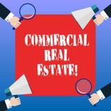 Handschrifttekst Commercieel Real Estate Het concept die bezit betekenen dat alleen voor de analyse wordt gebruikt van bedrijfsdo stock illustratie