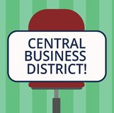 Handschrifttekst die Centraal Bedrijfsdistrict schrijven Concept commercieel betekenen en commercieel centrum van een stadsspatie vector illustratie