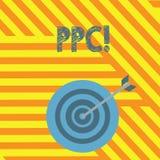 Handschrifttekst die Ppc schrijven De conceptenbetekenis betaalt per Klik Reclamestrategieën Direct Verkeer aan Websites royalty-vrije illustratie