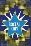 Handschrifttekst die Sociale Crm schrijven Concept die Klantrelatieanalysisagement betekenen die wordt gebruikt om met klanten in vector illustratie