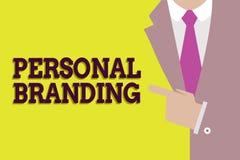 Handschrifttekst het Persoonlijke Brandmerken Concept die Op de markt brengend en hun carrières als merken betekenen royalty-vrije illustratie