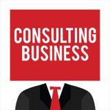 Handschrifttekst het Raadplegen Zaken Het concept die Adviesbureaudeskundigen betekenen geeft Professioneel Advies vector illustratie