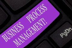 Handschrifttekst het schrijven Bedrijfsprocesbeheer Concept die Discipline van het verbeteren van een bedrijfsproces betekenen stock afbeeldingen