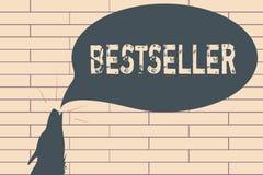 Handschrifttekst het schrijven Best-seller Concept die die Boekproduct betekenen in grote aantallen Succesvolle literatuur wordt  royalty-vrije illustratie