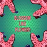 Handschrifttekst het schrijven Bloesem zoals Bloem Concept het betekenen plant of boom die de zaden of de fruitzeester zal vormen stock illustratie
