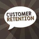 Handschrifttekst het schrijven Klantenretentie Het concept die Houdend loyale klanten behoudt velen mogelijk betekenen vector illustratie