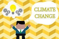 Handschrifttekst het schrijven Klimaatverandering De Verhoging van de conceptenbetekenis van de globale gemiddelde transformatie  stock illustratie