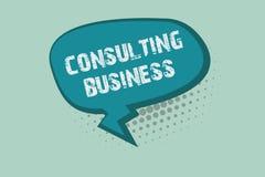 Handschrifttekst het schrijven het Raadplegen Zaken Het concept die Adviesbureaudeskundigen betekenen geeft Professioneel Advies royalty-vrije illustratie