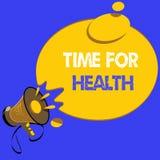 Handschrifttekst het schrijven Tijd voor Gezondheid Concept die aanmoedigend iemand beginnen gezonde food do sport te eten beteke Vector Illustratie