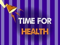 Handschrifttekst het schrijven Tijd voor Gezondheid Concept die aanmoedigend iemand beginnen gezonde food do sport te eten beteke Royalty-vrije Illustratie