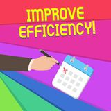 Handschrifttekst het schrijven verbetert Efficiency Concept die Bekwaamheid in perforanalysisce met Minste Afval van Inspanning b vector illustratie