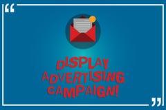 Handschrifttekst het schrijven Vertonings Reclamecampagne De conceptenbetekenis vervoert een commercieel bericht gebruikend Open  royalty-vrije illustratie