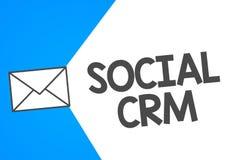 Handschrifttekst Sociale Crm Concept die Klantrelatieanalysisagement betekenen die wordt gebruikt om met klanten in dienst te nem vector illustratie