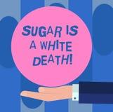 Handschrifttekst Sugar Is een Witte Dood Het concept die Snoepjes betekenen is de gevaarlijke analyse van HU van het diabetes waa vector illustratie