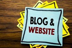 Handschrifttext-Titelinspiration, die Blog-Website zeigt Geschäftskonzept für das Blogging Sozialnetz geschrieben auf klebriges B Lizenzfreies Stockbild