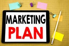 Handschrifttext-Titelinspiration, die Vermarktungsplan zeigt Geschäftskonzept für die Planung der erfolgreichen Strategie geschri vektor abbildung