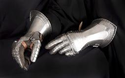 Handschuh des Ritters Metall stockbild