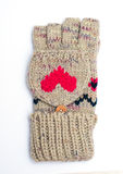 Handschuh/Handschuh auf weißem Hintergrund Stockbild